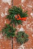 Guirnaldas del advenimiento de la Navidad Foto de archivo libre de regalías