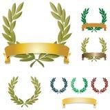 Guirnaldas del laurel Imagen de archivo libre de regalías