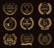 Guirnaldas del laurel del oro ilustración del vector