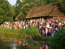 Guirnaldas flotantes, Lublin, Polonia Fotos de archivo