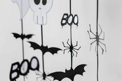 Guirnaldas o decoraciones del papel del partido de Halloween Imagen de archivo libre de regalías