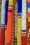 Guirnaldas plásticas de la flor Imagen de archivo libre de regalías