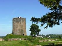 Guisa do castelo do Donjon fotos de stock royalty free