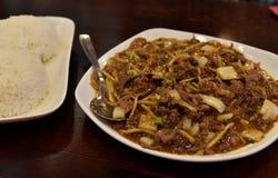 Guisado chinês do cordeiro da culinária imagem de stock