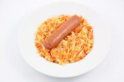 Guisado da cenoura e da cebola em uma placa Foto de Stock Royalty Free