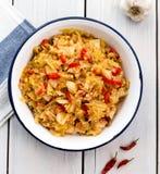Guisado da couve, kapuska turco de Zeytinyagli do alimento Imagens de Stock