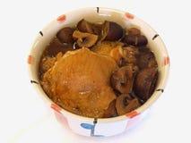 Guisado da galinha & do cogumelo Foto de Stock Royalty Free