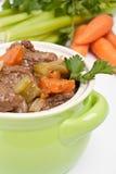 Guisado de carne com aipo e cenoura Fotografia de Stock Royalty Free