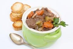 Guisado de carne com aipo e cenoura Imagem de Stock Royalty Free