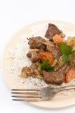 Guisado de carne com aipo e cenoura Imagem de Stock