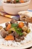 Guisado de carne com aipo e cenoura Foto de Stock Royalty Free