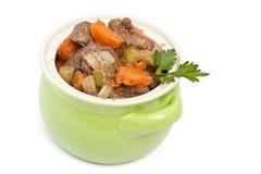 Guisado de carne com aipo e cenouras Imagem de Stock Royalty Free
