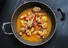 Guisado de galinha recentemente cozinhado com especiarias indianas Fotografia de Stock Royalty Free