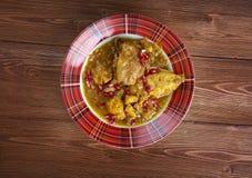 Guisado de pollo persa de Fesenjan imagenes de archivo