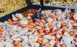 Guisado del pollo y de la zanahoria Alimento sano fotos de archivo