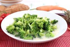 Guisado dos bróculos imagens de stock