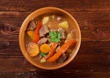 Guisado irlandês com carne macia do cordeiro Imagem de Stock