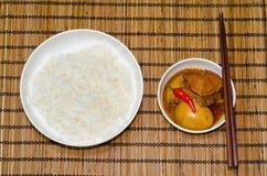 Guisado vietnamiano da carne de porco com o ovo fervido duro fotografia de stock royalty free