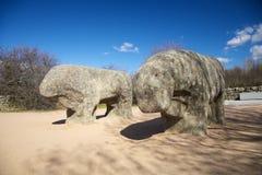 Guisando stone bulls Royalty Free Stock Photo