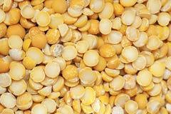 Guisantes amarillos secados Imagen de archivo libre de regalías
