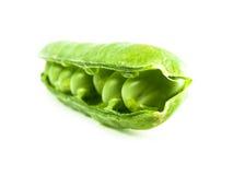 Guisantes verdes en vaina Foto de archivo