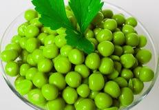 Guisantes verdes preservados Imagen de archivo libre de regalías