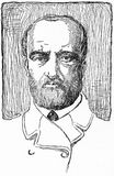 Guiseppi Mazzini, Italian nationalist leader. Engraving of Guiseppi Mazzini 1805-1872 Italian nationalist leader. From an original engraving in the Historian`s Royalty Free Stock Images