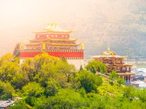 Guishan Si monastery in Shangri-la County, or Zhongdian, Yunnan Province, China.  Royalty Free Stock Image