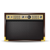 Guit or amplifier for acoustic guitar Royalty Free Stock Photos