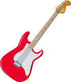 Guitar 01. Red Guitar Vector Art and Clip Art Royalty Free Stock Image