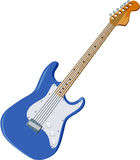 Guitar 02. Blue Guitar Vector Art and Clip Art Stock Image