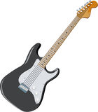 Guitar 03. Black Guitar Vector Art and Clip Art Royalty Free Stock Photo