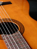 Guitar. A detail of a Spanish guitar Royalty Free Stock Image