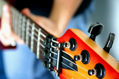 Guitar 1. Close-up electric guitar Stock Photography