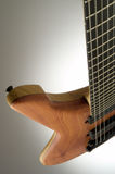 Guitar. Macro of a precious electric guitar from an unusual angle Stock Photos