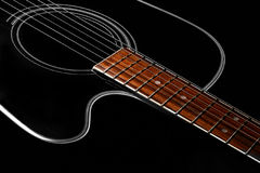 Guitar. Beautiful shape of a guitar Stock Images