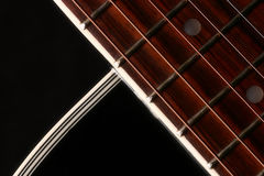 Guitar. Beautiful shape of a guitar Stock Photography