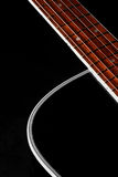 Guitar. Beautiful shape of a guitar Royalty Free Stock Photography
