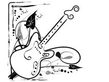 Guitar. Abstract grunge guitar -  illustration Stock Photography