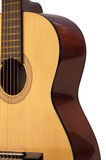 Guitar. High resolution image.  Classical acoustic guitar, isolated on grey background Stock Photos