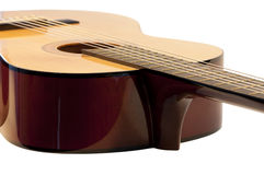 Guitar. High resolution image.  Classical acoustic guitar, isolated on white background Stock Photography