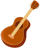 Guitar. Illustration of isolated a guitar on white background Royalty Free Stock Image