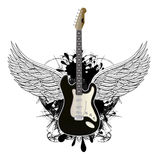 Guitar. Music background with rock guitar Royalty Free Stock Images
