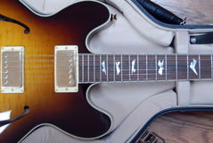 Guitar. Collings I-35 Deluxe electric guitar in hardshell case Stock Photography