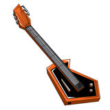 Guitar. Abstract illustration for musical instrument -guitar Royalty Free Stock Photo