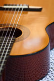 Guitar. Detail of a classical guitar Royalty Free Stock Photography