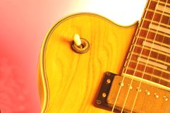 Guitar. Electric guitar with control knob in focus Stock Images