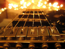 Guitar. Electric guitar with background lights Stock Image