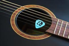Guitar. A black guitar acoustic,playing Guitar Stock Photography