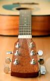 Guitar. Photograph of an acoustic guitar Stock Image